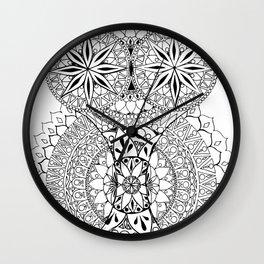 Owl Mandala Wall Clock
