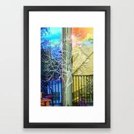 Outside View Framed Art Print