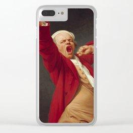 Joseph Ducreux, Self-Portrait Yawning, 1783 Clear iPhone Case