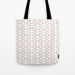 Mid Century Modern Split Triangle Pattern Light Beige Tote Bag