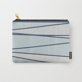 Vintage blue stripe pattern for home Carry-All Pouch