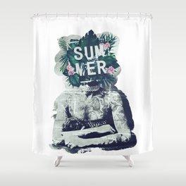Vintage summer vibes Shower Curtain