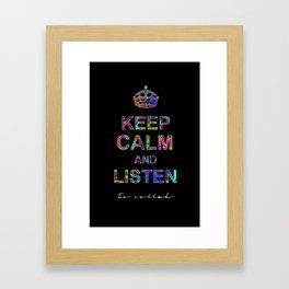 Listen To Sellah (BLCK) Framed Art Print