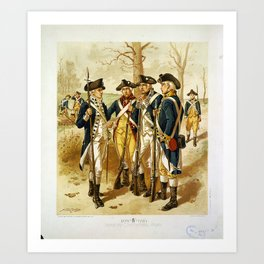 Infantry: Continental Army 1779-1783 by H.A. Ogden (1879) Art Print