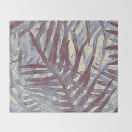 Scanned Ferns Throw Blanket