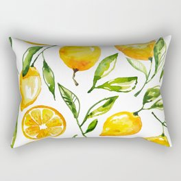 lemon watercolor Rectangular Pillow