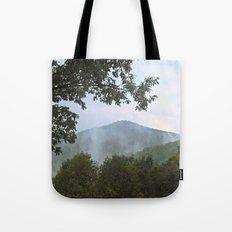 Foggy Mountain Top Tote Bag