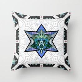 Knight shield mealic armour Throw Pillow