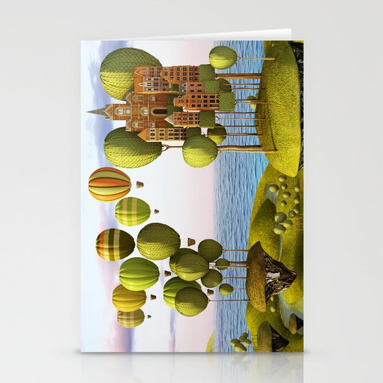 City in the Sky_Lanscape Format Stationery Cards