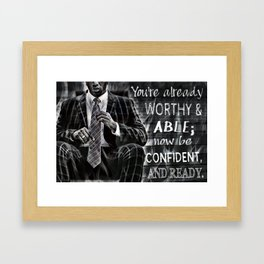 Black Man Confidence Framed Art Print