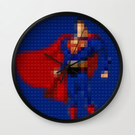 Man of Steel - Toy Building Bricks Wall Clock