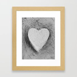 Sand Castle Heart Framed Art Print