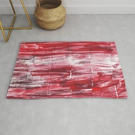 Red abstract Rug
