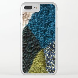 A Color Story Rug Hooked Art Clear iPhone Case