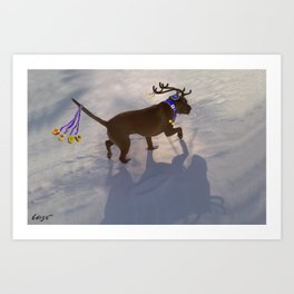 """DREIDEL, DREIDEL, DREIDEL ...Hanukkah PLaY-Do'LPH"" from the photo series, ""My dog, PLaY-DoH"" Art Print"