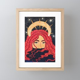 floating goddess Framed Mini Art Print