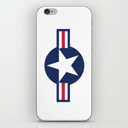 US Airforce style roundel star - High Quality image iPhone Skin