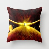 atlas Throw Pillows featuring ATLAS - 225 by Lazy Bones Studios