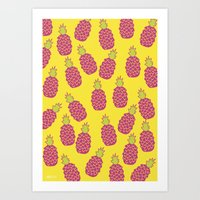 Pineapple POW Art Print