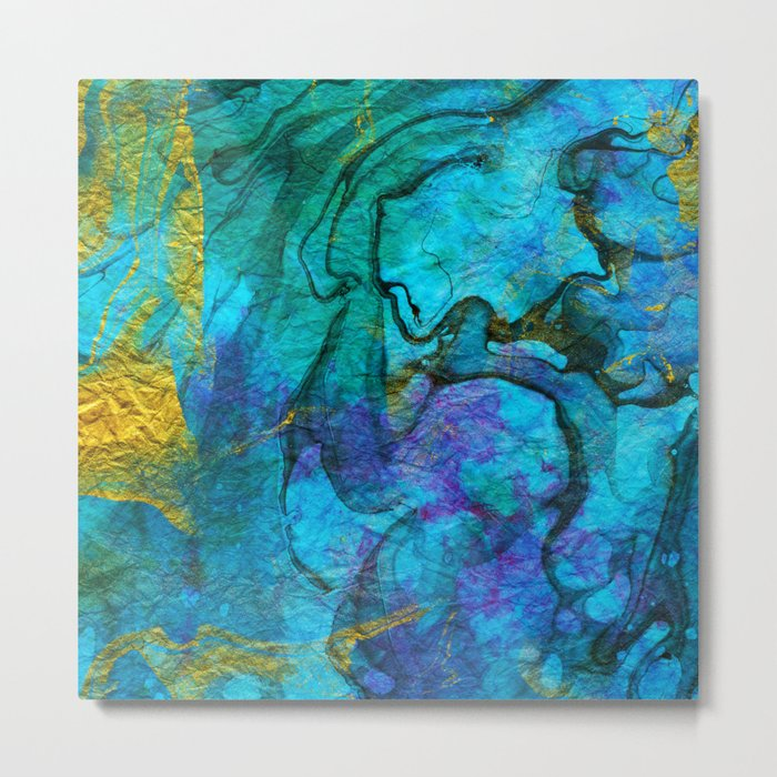 Multicolored marble ii Metal Print
