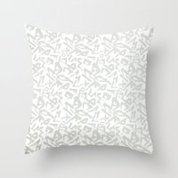 calligraphy Throw Pillows featuring Calligraphy  by Johs