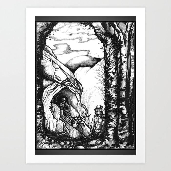 Putting Down Roots - Illustration Art Print