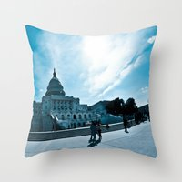 dc Throw Pillows featuring DC by Nick Duarte