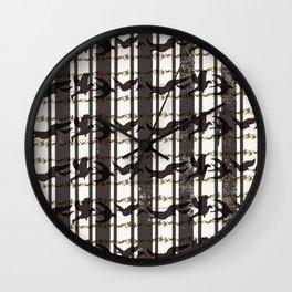 bird plaid Wall Clock
