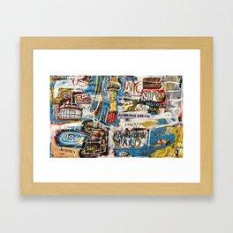 Manhattan World Framed Art Print