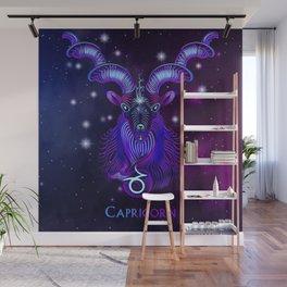 Zodiac neon signs — Capricorn Wall Mural