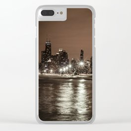 Chicago Nights Clear iPhone Case