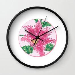 Geometric Lily Wall Clock
