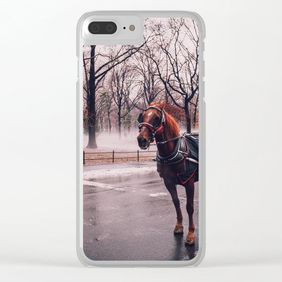 NYC Horse and Carriage Clear iPhone Case
