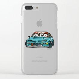 Crazy Car Art 0156 Clear iPhone Case