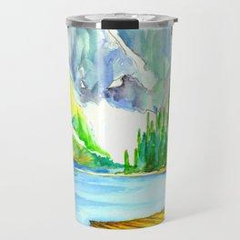 Lake Louise Watercolor Travel Mug