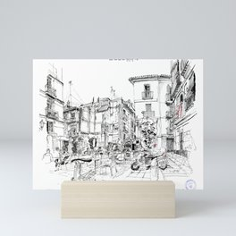 Plaza Sant Bult Valencia Mini Art Print