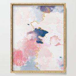 Kintsugi Pastel Marble #kintsugi #gold #japan #marble #pink #blue #home #decor #kirovair Serving Tray