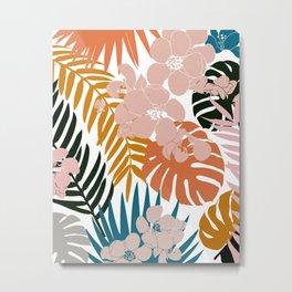 Palms & Bloom Metal Print