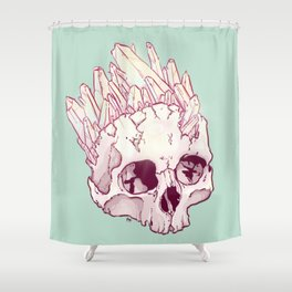 Skull No.2 // The Cristallized One Shower Curtain
