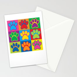 Pop Art Paws Stationery Cards