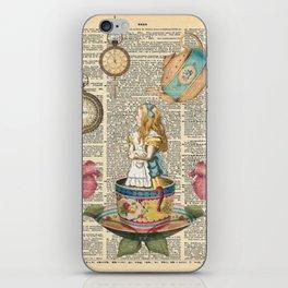 It's Always Tea Time - Alice In Wonderland iPhone Skin