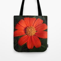 mexican Tote Bags featuring Mexican Sunflower by Awesome Palette