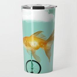 unicyle goldfish III Travel Mug