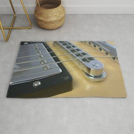 Close Up of Yellow Guitar Rug