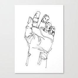 Ink doodle hand #2 Canvas Print