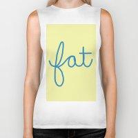 fat Biker Tanks featuring Fat! by Liza Eckert