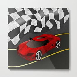 Red Racer Metal Print