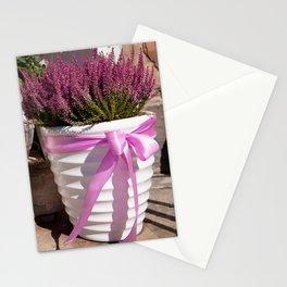 Blooming Calluna vulgaris or heather Stationery Cards