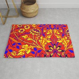 Polyamory Pride Opulent Floral Design Rug