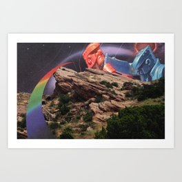 black hole rock'em sock'em Art Print